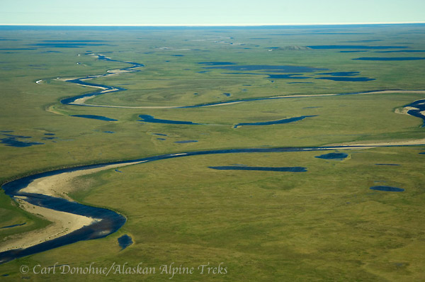 Coastal plain, Arctic National Wildlife Refuge, Alaska (aerial photo).