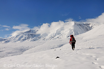 Backpacking to Mt Jarvis, Wrangell - St. Elias, Alaska.
