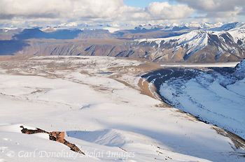 Jacksina Glacier and Wrangell Mountains, Wrangell - St. Elias National Park, Alaska.